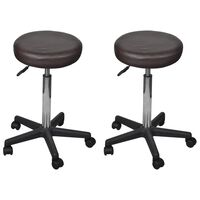 vidaXL Uredski stolci od umjetne kože 2 kom smeđi 35,5 x 98 cm