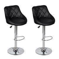 vidaXL Barski stolci od umjetne kože 2 kom crni