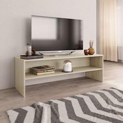 vidaXL TV ormarić od iverice bijeli i boja hrasta sonome 120x40x40 cm