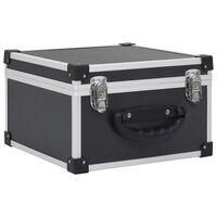 vidaXL Kutija za 40 CD-ova aluminijska ABS crna
