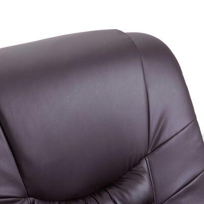 vidaXL Naslonjač od umjetne kože smeđi