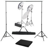 vidaXL Oprema za fotografski studio sa setom svjetiljki i pozadinom