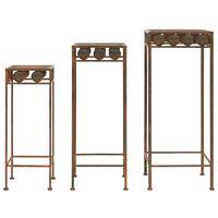 vidaXL 3-dijelni set stalaka za biljke od metala starinski stil boja hrđe