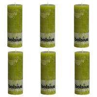 Bolsius rustične debele svijeće 6 kom 190 x 68 mm boja mahovine