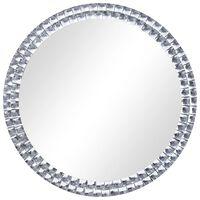 vidaXL Zidno ogledalo srebrno 70 cm od kaljenog stakla