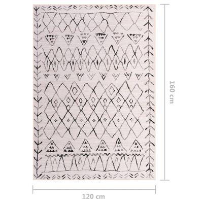 vidaXL Tepih s uzorkom raznobojni 120 x 160 cm od tkanine