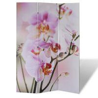 vidaXL Sklopiva sobna pregrada s uzorkom cvijeća 200 x 170 cm