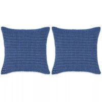 vidaXL Set Jastuka 2 kom od Velura 60x60 cm Plavi