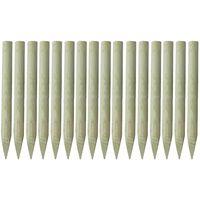 vidaXL Šiljasti stupovi za ogradu 16 kom od impregniranog drva 100 cm
