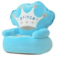 vidaXL Plišana Dječja Fotelja Princ Plava