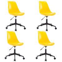 vidaXL Okretne blagovaonske stolice od umjetne kože 4 kom žute