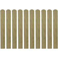 vidaXL Impregnirane letvice za ogradu 30 kom 80 cm drvene