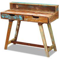 vidaXL Radni stol od masivnog obnovljenog drva