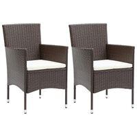 vidaXL Vrtne blagovaonske stolice od poliratana 2 kom smeđe