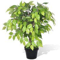 Umjetno patuljasto stablo fikusa s teglom 60 cm