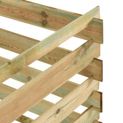 vidaXL Rešetkasti vrtni komposter 120x120x70 cm impregnirana borovina