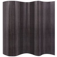vidaXL Sobna Pregrada od Bambusa Siva 250 x 165 cm