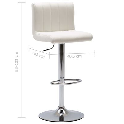 vidaXL Barski stolci od umjetne kože 2 kom bijeli