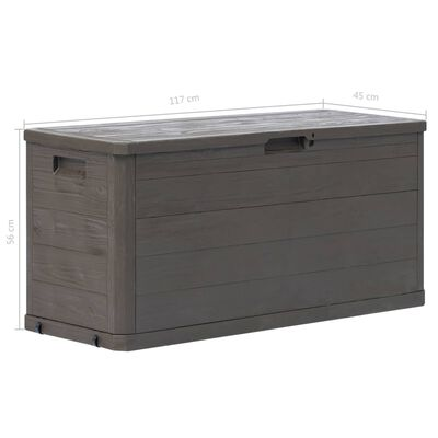vidaXL Vrtna kutija za pohranu 280 L smeđa