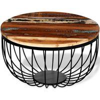 vidaXL Stolić za kavu od masivnog obnovljenog drva