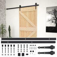 vidaXL Klizna vrata s priborom za montažu 100x210 cm masivna borovina