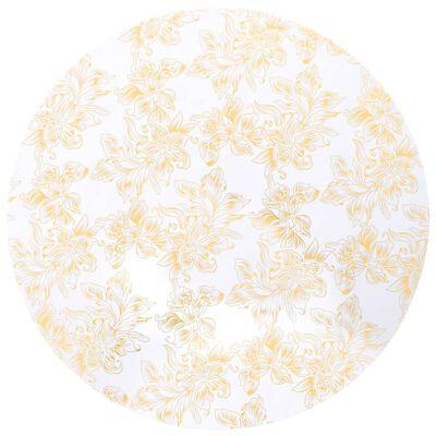 vidaXL Navlake za stolice 2 kom rastezljive 80 cm bijelo-zlatne
