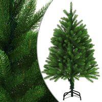 vidaXL Umjetno božićno drvce s realističnim iglicama 120 cm zeleno