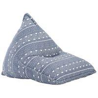vidaXL Vreća za sjedenje od tkanine indigo s patchworkom