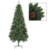 vidaXL Umjetno božićno drvce sa šiškama zeleno 210 cm