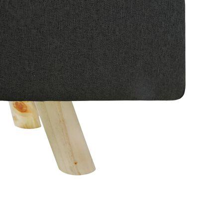 vidaXL Tabure tamnosivi 120 x 28 x 26 cm od tkanine