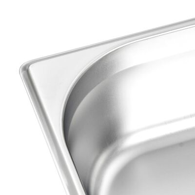 vidaXL Posude Gastronorm 4 kom GN 1/2 100 mm od nehrđajućeg čelika