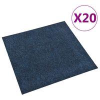 vidaXL Podne pločice s tepihom 20 kom 5 m² modre