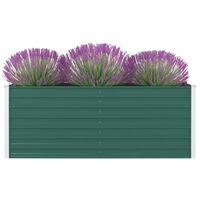 vidaXL Povišena vrtna gredica 160 x 80 x 45 cm pocinčani čelik zelena