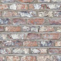 DUTCH WALLCOVERINGS zidna tapeta s uzorkom cigli raznobojna EW3103