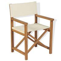 vidaXL Redateljska sklopiva stolica masivna tikovina