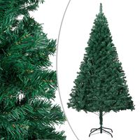 vidaXL Umjetno božićno drvce s gustim granama zeleno 210 cm PVC