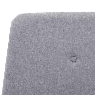 vidaXL Okvir za krevet od tkanine svjetlosivi 140 x 200 cm