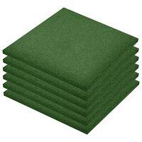 vidaXL Ploče za zaštitu od pada 18 kom gumene 50 x 50 x 3 cm zelene