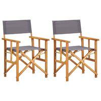 vidaXL Redateljske stolice 2 kom od masivnog bagremovog drva