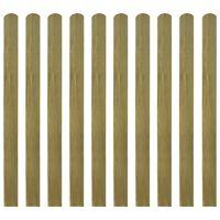vidaXL Impregnirane letvice za ogradu 30 kom 120 cm drvene
