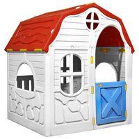 vidaXL Dječja sklopiva kućica za igru s vratima i prozorima