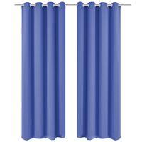 vidaXL Zavjesa za Zamračivanje s Metalnim Prstenovima 2 kom 135x245 cm Plava