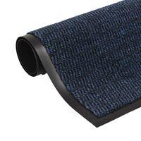 vidaXL Otirač za Zadržavanje Prašine Pravokutni 80x120 cm Plavi