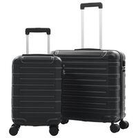 vidaXL 2-dijelni set čvrstih kovčega crni ABS