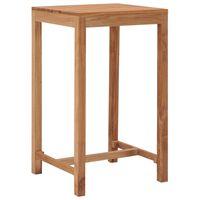 vidaXL Vrtni barski stol 60 x 60 x 105 cm od masivne tikovine