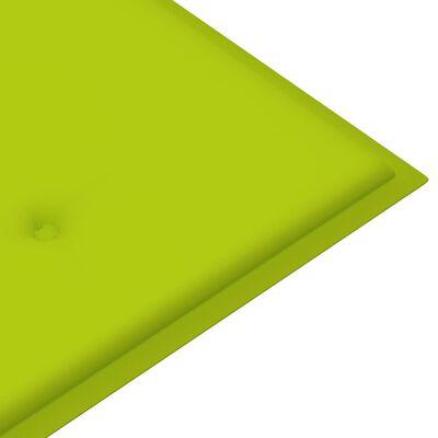 vidaXL Jastuk za vrtnu klupu jarko zeleni 180 x 50 x 4 cm od tkanine