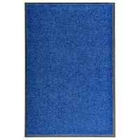 vidaXL Otirač perivi plavi 60 x 90 cm