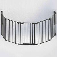 Noma sigurnosna ograda s 5 panela Modular metalna crna