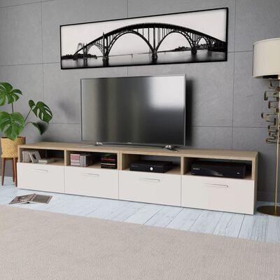 vidaXL TV ormarići od iverice 2 kom 95 x 35 x 36 cm boja hrasta i bijela