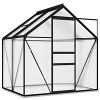 vidaXL Staklenik od aluminija antracit 2,47 m²